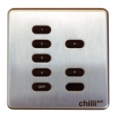 ZERO 88 Chilli Net Dim Panel 5 5 Tasten, Dim, IR, Messing