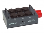 WORK Power Splitter 1x CEE 16 A auf 6x Schukodose